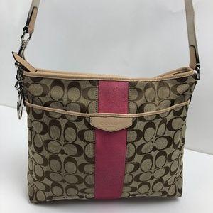 Coach Women's Signature Stripe File Crossbody Bag